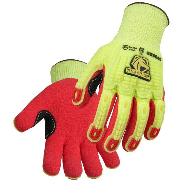 Black Stallion AccuFlex™ A6 Cut & Impact Resistant Hi-Vis Nitrile-Coated Knit Glove #GR5040