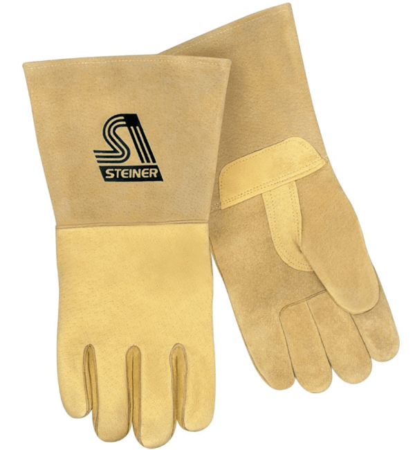 Steiner Industries Premium Reverse Grain Pigskin MIG Welding Gloves #P750 (2X Large)