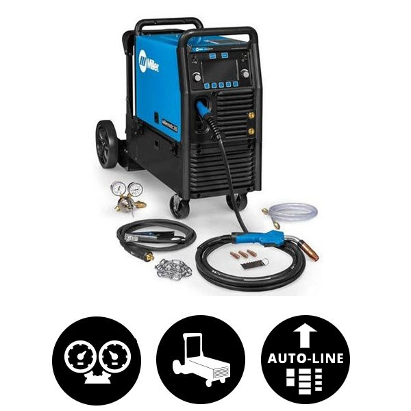 Millermatic® 255 MIG/Pulsed MIG Welder w/ EZ-Latch™ Running Gear