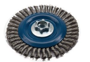 Norton Stringer Bead Knot Wire Wheel Brushes for right angle grinders Pkg 5