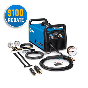 Millermatic 211 Auto-Set 110/220 Volt Mig Welder +gloves