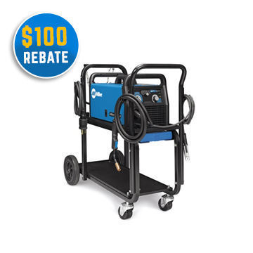 Millermatic 211 Auto-Set/Small Cart 110/220 Volt Mig Welder
