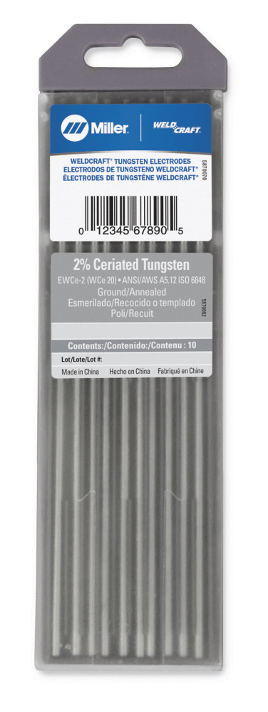Weldcraft 2% Ceriated Tungsten