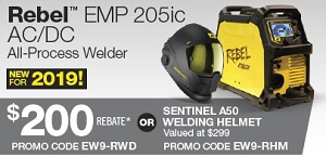 ESAB Rebel™ EMP 205ic AC/DC Winter Savings Rebate