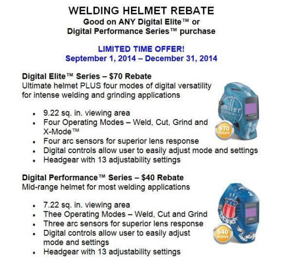 Miller Helmet Rebate Offer
