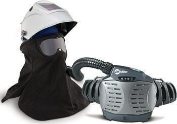 Millerpaprwithtitanium Helmet on Miller Welding Mask P100 Filter