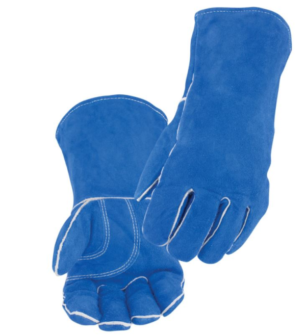 Black Stallion Split Cowhide Stick Glove with Palm Guard, Blue #113L