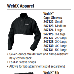 Cape Sleeves and Bib Miller WeldX Jacket #2471 (14,21)
