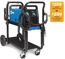 Millermatic 190 Auto-Set Wire Welder with cart #951602