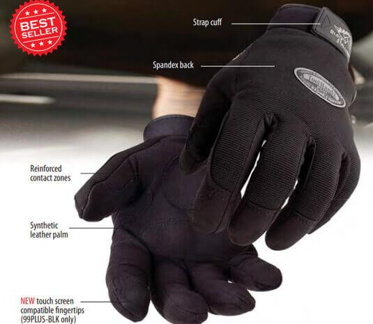 2XL 99PLUS-BLK Black Stallion ToolHandz Plus Original Black Mechanics Gloves
