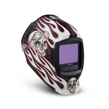 Miller Welding Helmet Flaming Skull Design