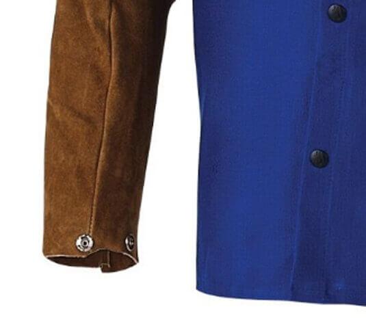 Black Stallion FO9-30C//BS Hybrid FR Cotton//Cowhide Welding Jacket Orange Small