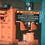 Metalpro #MP4000 Ironworker includes metal punching station