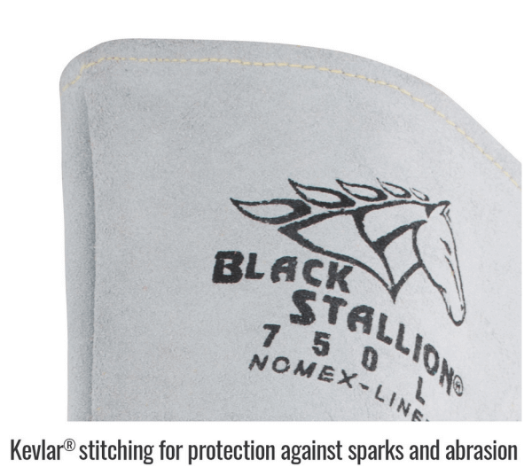 Revco Pearl White Elkskin Stick Glove with Nomex® Lined Back