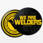 Welders Supply Stickers Two-Pack Black