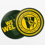Welders Supply Stickers Two-Pack Green