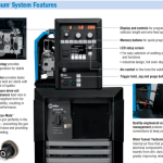 Miller Continuum 500 Package 9516721 System Features from Manual