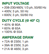20 ft Leads Multi-volt//phase 208-230V Thermal Dynamics 1-1130-1: Cutmaster 82 Plasma System 75 Deg Head SL60 Torch 1 Ph