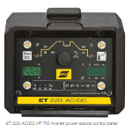 ESAB ET 220i AC/DC HF TIG with Trolley W1009302 Control Panel