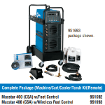 Miller Maxstar 400 Complete Package: machine/cart/cooler/torch kit/remote #951692
