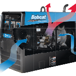 Reverse Generator Flow Bobcat 250 Welding Machine #907500