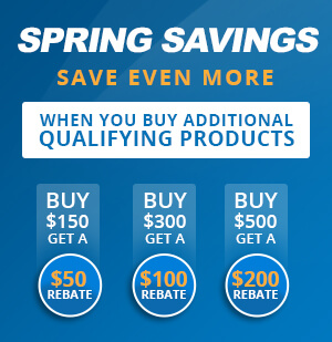 Build with Blue Spring Savings Rebates