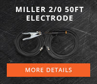 Miller 2/0 50ft Electrode & 50ft work cables #173851