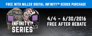 Coolband II Free with Miller Digital Infinity Series Welding Helmet