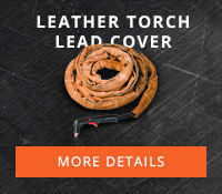 Hypertherm Leather Torch Lead Cover with Velcro Closure, 25 Ft Part #024548