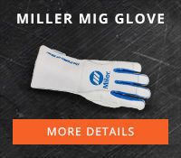 Miller MIG Lined Glove Part#263333 available in Medium, Large, and X-Large sizes