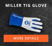 Miller Gloves for TIG Welding and Plasma Cutting Applications