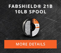 Fabshield® 21B 10lb Spool #21B for general purpose welding applications