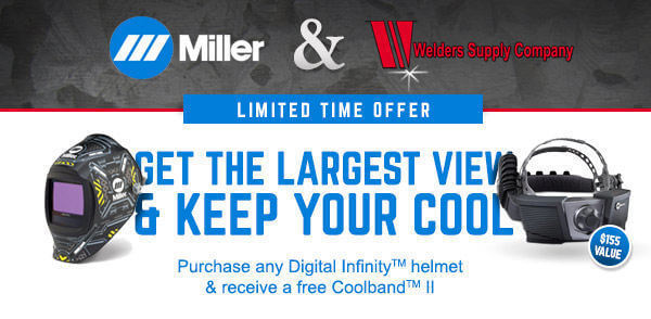Free Coolband II with Purchase of Miller Digital Infinity Welding Helmets